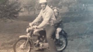 Dad & motorcycle
